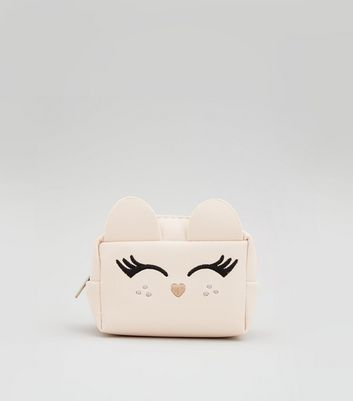 Cream Cat Coin Purse New Look