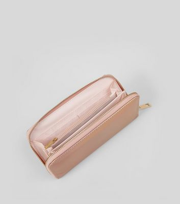 Rose Gold Holographic Purse New Look