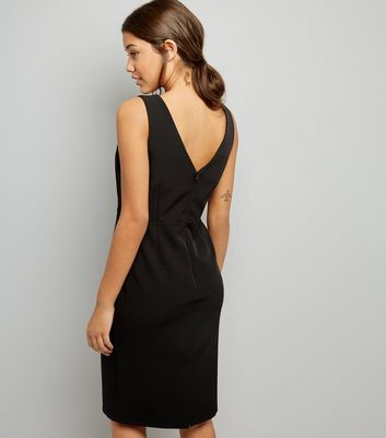 Black Pencil Dress New Look