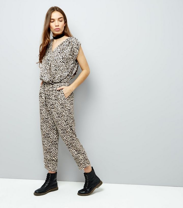 026171954fb0 Mela Brown Leopard Print Jumpsuit | New Look