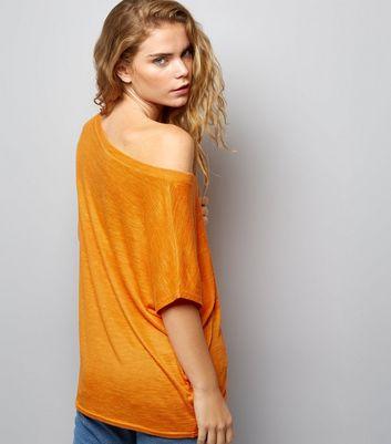 Orange Off the Shoulder T-Shirt New Look
