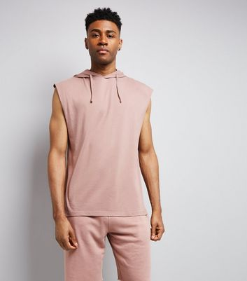 Pink Sleeveless Hoodie New Look