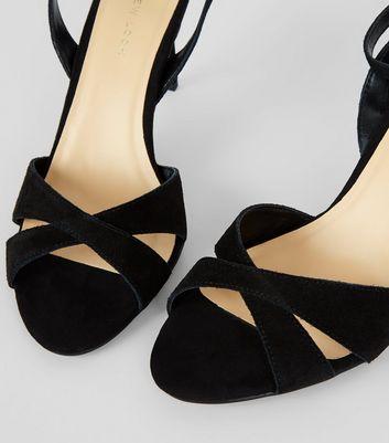 black-suede-cross-strap-heeled-sandals