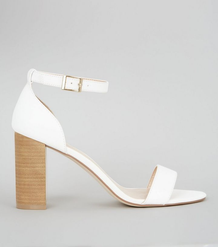 3ef7e7b1dc3 White Ankle Strap Heeled Sandals Add to Saved Items Remove from Saved Items