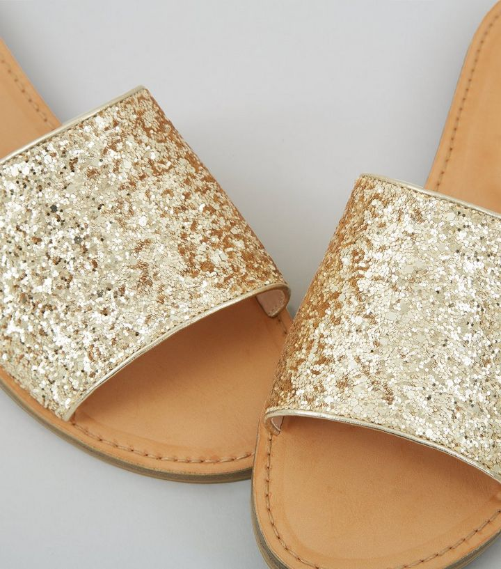 66620a400755 ... Wide Fit Gold Glitter Mules. ×. ×. ×. VIDEO Shop the look