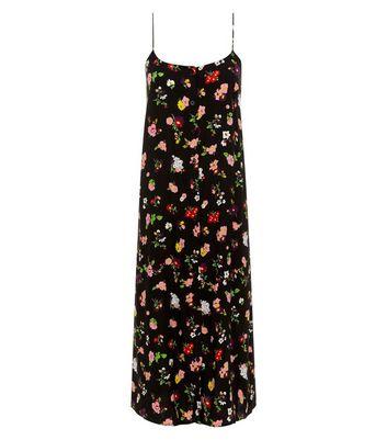 Motel Black Floral Print Slip Maxi Dress New Look