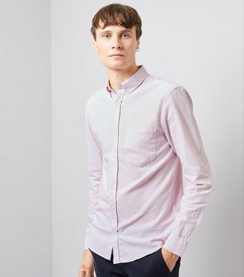 Pink Long Sleeve Oxford Shirt New Look