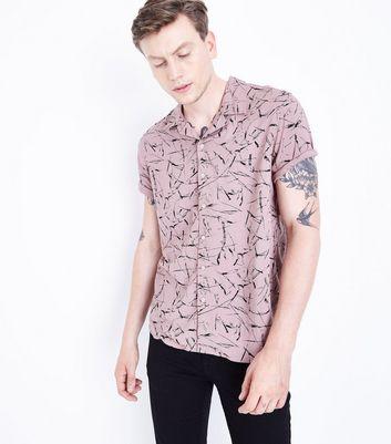 Pink Printed Short Sleeve Shirt New Look