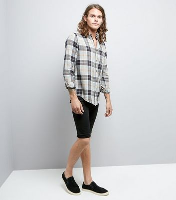 Grey Highlight Check Shirt New Look