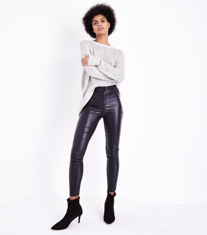 special discount get online online sale Black Leather-Look High Waist Skinny Hallie Jeans Add to Saved Items Remove  from Saved Items