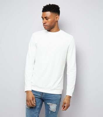 White Crew Neck Sweatshirt New Look