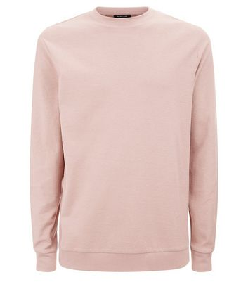 Deep Pink Crew Neck Sweatshirt New Look