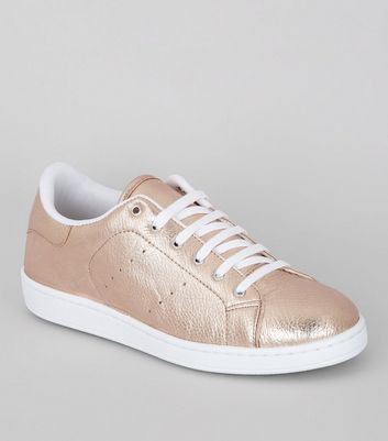 Rose Gold Trainers   New Look