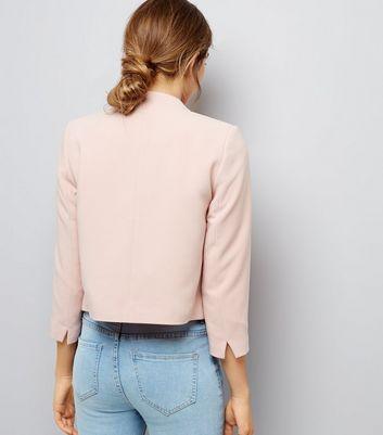 Veste courte femme rose pale
