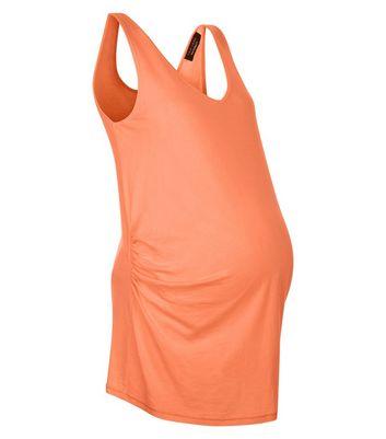 Maternity Coral V Neck Longline Vest New Look
