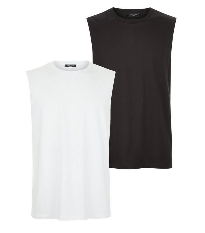 c8f79064c8 2 Pack Black And White Tank Tops Add to Saved Items Remove from Saved Items