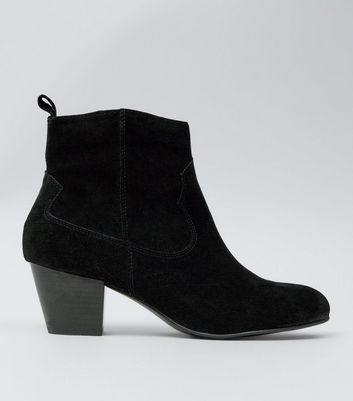 black-suede-western-ankle-boots