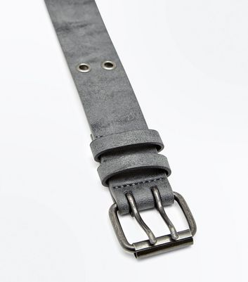 Black Double Hole Buckle Belt New Look