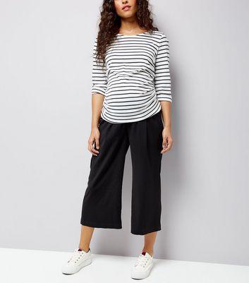 Maternity Black Culottes New Look