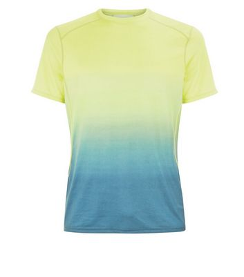 Yellow Ombre Sports T-Shirt New Look