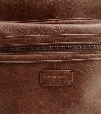 Brown Leather-Look Backpack New Look