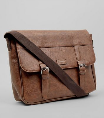 Brown Leather-Look Satchel New Look