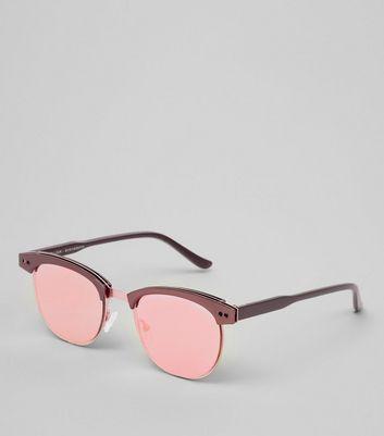 Gold Metal Trim Sunglasses New Look