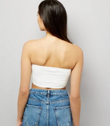 White Bandeau New Look