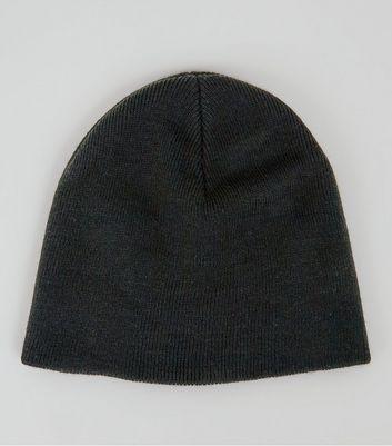 Black Knit Beanie New Look