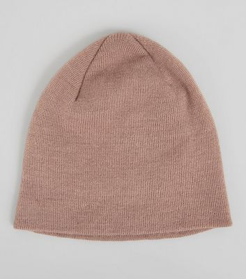 Pink Knit Beanie New Look