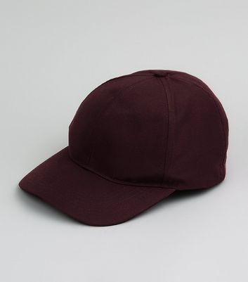Burgundy Cap New Look