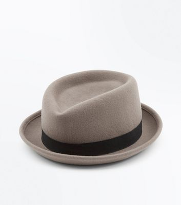Tan Contrast Band Snap Brim Hat New Look