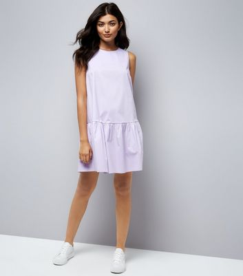 Lilac Drop Peplum Hem Dress New Look