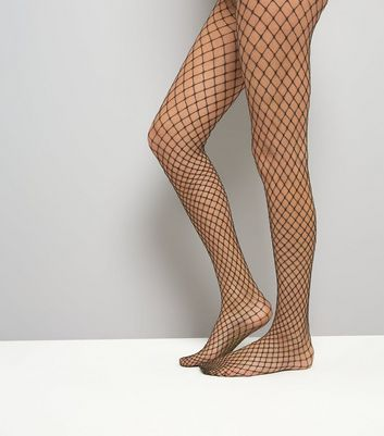 Gold Fishnet Tights New Look