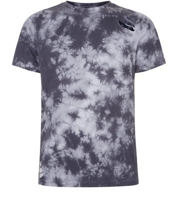 Grey Tie Dye Ripped T-Shirt New Look