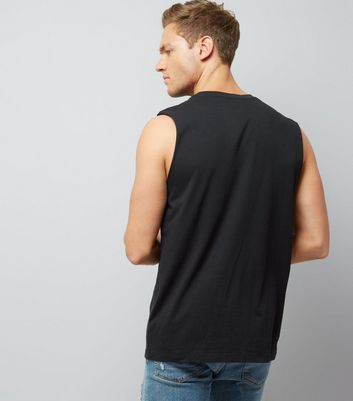 Black Splatter Pasadena Print Vest New Look