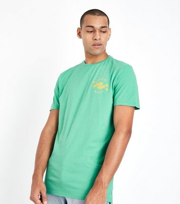 Green Venice Beach Print T-Shirt New Look