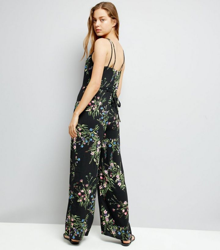b45f190c67 ... Black Floral Print Strappy Jumpsuit. ×. ×. ×. Shop the look