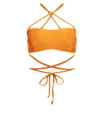 Rust Multi Way Strap Bikini Top New Look