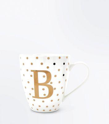 White B Initial Mug New Look