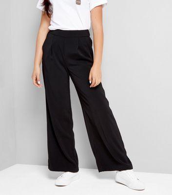Teens Black Wide Leg Trousers New Look