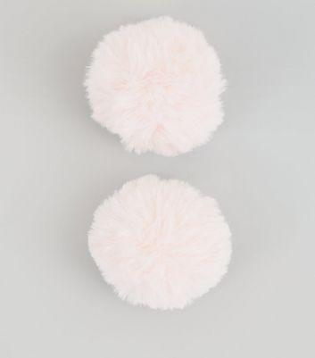 Pink Pom Pom Shoe Clips New Look