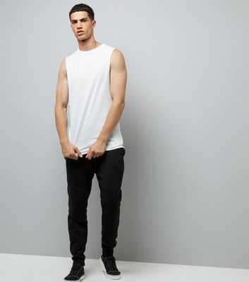 White Wasted Years Print Tank Vest New Look