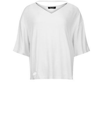 Teens White Choker Neck T-Shirt New Look
