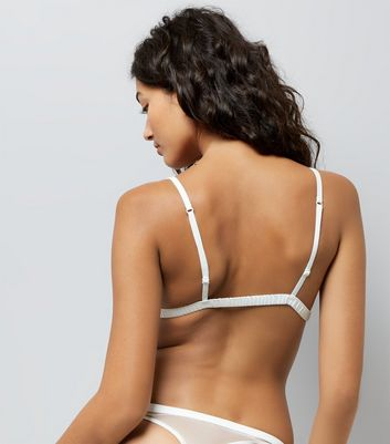 Cream Bridal Lace Bralet New Look