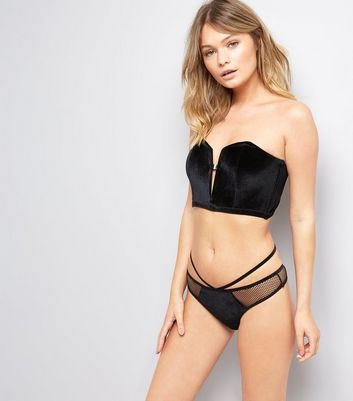 Black Velvet Basque New Look