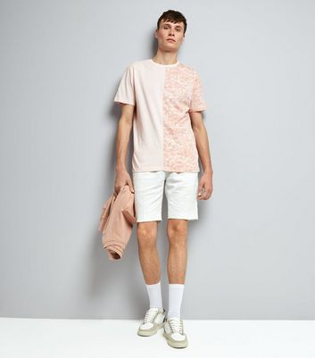 Pink Spliced T-Shirt New Look