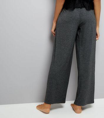 Grey Jersey Pyjama Joggers New Look