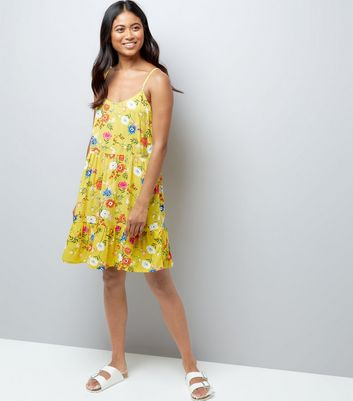 Petite Yellow Floral Print Sundress New Look