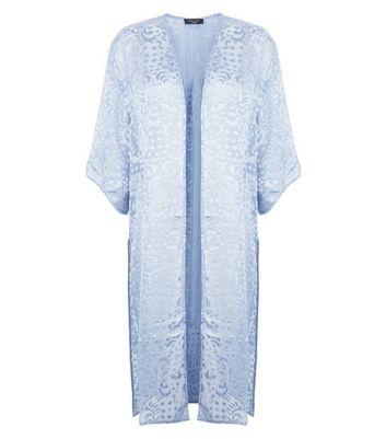 Petite Grey Floral Burnout Maxi Kimono New Look